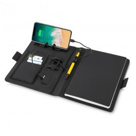 Caderno com Carregador Power Bank por Indução
