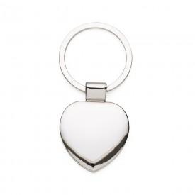 Chaveiro de Metal Formato Coração Personalizado