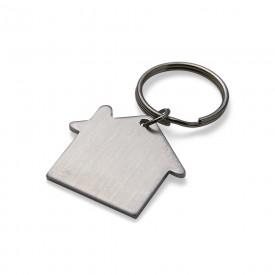 Chaveiro em Metal Formato de Casa Personalizado
