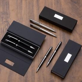 Conjunto Personalizado com caneta e lapiseira em estojo
