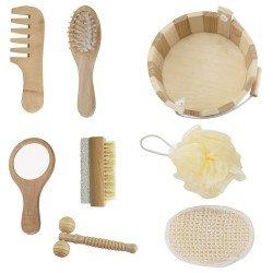 Kit banho de madeira com 7 peças personalizado
