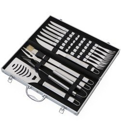 Kit churrasco 17 peças em maleta de alumínio