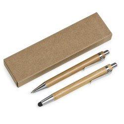 Kit ecológico caneta e lapiseira em bambu