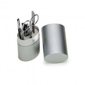 Kit Manicure 5 Peças em Estojo de Alumínio Promocional