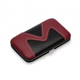 Kit manicure 9 peças em estojo de couro sintético Personalizado