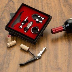 Kit vinho 5 peças em estojo