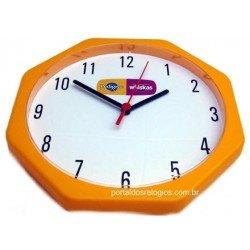 Relógio de Parede Personalizado Oitavado 24cm