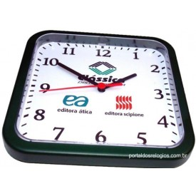 Relógio de Parede Personalizado Quadrado 22cm