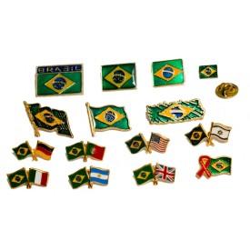Boton Bandeiras Cruzadas Personalizada
