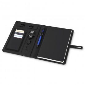 Caderno com Carregador Power Bank para Brinde