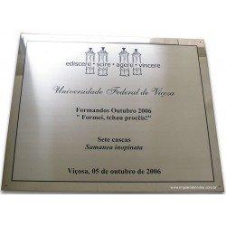 Placa Comemorativa em inox
