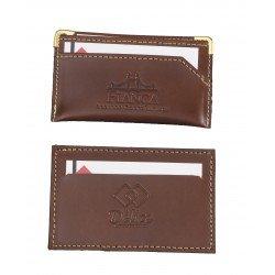 Porta cartões e couro legítimo