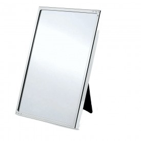 Espelho em aço inoxidável  com 8 cristais Swarovski